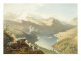 Grasmere from Langdale Fell, from 'The English Lake District', 1853 - James Baker Pyne