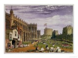 Lower Ward with a View of St. George's Chapel and the Round Tower, Windsor Castle, 1838 - James Baker Pyne