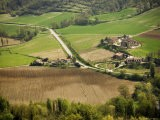 Overhead View of Countryside, Montone - James Braund