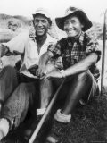 Edmund Hillary and Nepalese Sherpa Guide Tenzing Norgay Sitting Together - James Burke