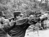 Gen. Ryu Hung Soo and His American Advisor Lt. Col. George D. Willets Practicing Shooting - James Burke