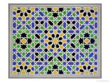 Mosaic in Dado of the Door in the Hall of the Two Sisters, Alhambra - James Cavanagh Murphy