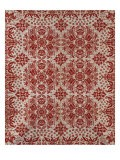 Wool and Cotton Double Woven Jacquard Coverlet, Oneida County, New York, 1842 - James Cunningham