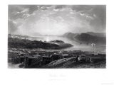 """Golden Gate, from Telegraph Hill, from """"Picturesque America,"""" by William Cullen Bryant - James David Smillie"""