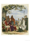 Augustine Preaching Christianity to Ethelbert 1 King of England - James Doyle