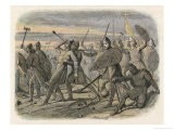 Battle of Hastings Harold King of England is Fatally Wounded by an Arrow Through His Eye - James Doyle