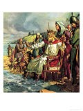 King Canute Defies the Waves - James Edwin Mcconnell