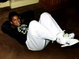 Jermaine Jackson Pop Singer Exercising on Floor