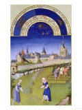 June: Haymaking, by the Limbourg Brothers (Facsimile Manuscript)
