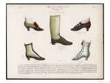 Selection of Victorian Shoes and Boots for Men and Women - La Moniteur