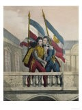 The Duke of Orleans Embracing General La Fayette and Raising the National Colours, c.1830 - Labastide