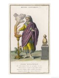 This Month is Shown as a Man in Purple Robes Burning Incense - Lamb