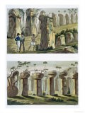 House of the Ancients, Island of Tinian, Plate 32A and B, Le Costume Ancien ou Moderne, c.1820-30 - Landini
