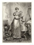 Marie-Louise of Austria Second Wife of Napoleon I with Their Son le Roi de Rome - Langlois