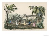 Games of Diabolo Taking Place in the Garden of a Grand Country House - Langlume