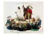 "Hernani Sublime, a Romantic Dish"", Caricature of Hernani"" by Victor Hugo circa 1830 - Langlume"