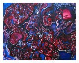 Abstract In Blue And Red - Larry J Wood