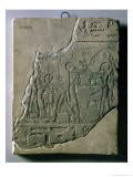 Bas Relief of Priestesses Gathering Grapes, 26th-30th Dynasty - Late Period Egyptian