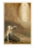 Bernadette Soubirous While Gathering Firewood Suddenly Sees the Virgin Mary in the Grotto - Laugee