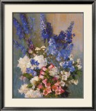 Larkspur, Peonies, And - Laura Coombs Hills