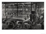 "The Main Workshop of the ""Rime Et Renard"" Factory at Orleans, from ""Les Grandes Usines"" by Turgan - Laurent Victor Rose"