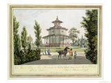 View of the Chinese Summer House, Palace of Lichtenstein at Eisgrub - Laurenz Janscha