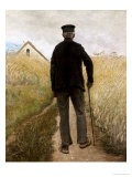 Old Man Walking in a Rye Field - Laurits Andersen Ring