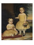 Portrait of Lavinia and Ella Simpson, c.1854 - Lavinia Scholes Simpson