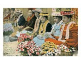 Lei Vendors, Honolulu, Territory Hawaii, c.1920