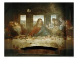 Last Supper, Detail of Christ with Apostles, 1498 - Leonardo da Vinci