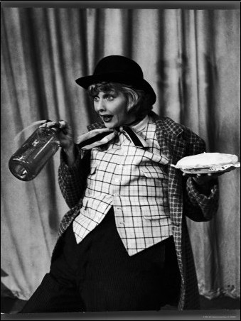 """Loomis Dean - Comedienne Lucille Ball Clowns During TV Episode of """"I Love Lucy"""""""