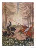 Gareth Vanquishes the Red Knight While Lynette Watches from the Trees - Mackenzie