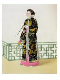 """A Lady of Distinction in Her Habit of Ceremony, Plate 60 from """"The Costume of China"""" - Major George Henry Mason"""