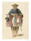 """A Pedlar Plate 17 from """"The Costume of China"""" - Major George Henry Mason"""