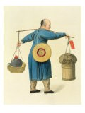 A Viper Seller, Plate 46 from 'The Costume of China', engraved by J. Dadley, 1800 - Major George Henry Mason