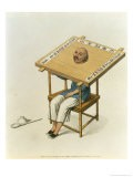 """The Punishment of the Wooden Collar, Plate 13 from """"The Punishments of China"""" - Major George Henry Mason"""