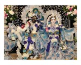 Deities in Blue - Radha and Krishna - Mallika Dasi