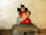 A Statue of a Woman Who Committed Sati 60 Years Ago Cradling Her Husband - Manish Swarup