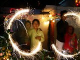 Children Light Firecrackers for the Hindu Festival of Diwali in New Delhi, India, Oct. 20, 2006 - Manish Swarup
