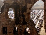 Muslims Offer Eid Prayers at the Ruins of Jami Mosque, Which was Built in 1345 AD - Manish Swarup