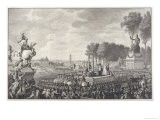 Marie-Antoinette Former Queen of France is Guillotined in the Place de la Revolution - Mannet