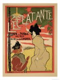 Reproduction of a Poster Advertising 'L'Eclatante', a Wickless Paraffin Lamp, 1895 - Manuel Robbe