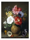 Still Life of Camellias and Anemone - Marc Henry