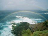 A Double Rainbow Brightens a Rainy Day off the Coast of Maui - Marc Moritsch
