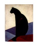 Black Cat in Profile, c.1924 - Marcel-Louis Baugniet