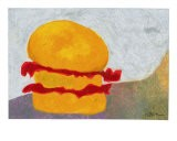 The Orange + Red Burger - Marcella Lassen