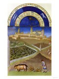 March: Peasants at Work on a Feudal Estate, by the Limbourg Brothers