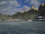 Central Park's Boat Pond, Iced over in Mid-Winter, Boat Pond, Central Park, New York, New York - Marcia Kebbon