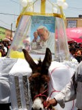 The Residents of Otuma, Mexico Decorate a Donkey with a Popemobile - Marco Ugarte