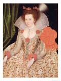 Princess Elizabeth, Daughter of James I, 1612 - Marcus Gheeraerts